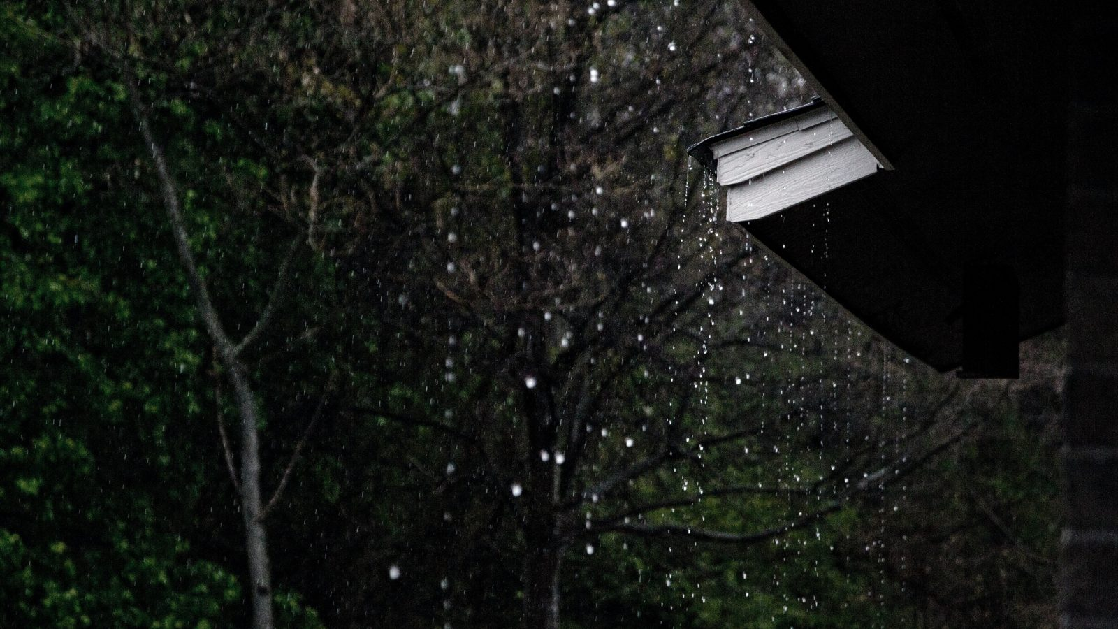 rain dripping off a roof