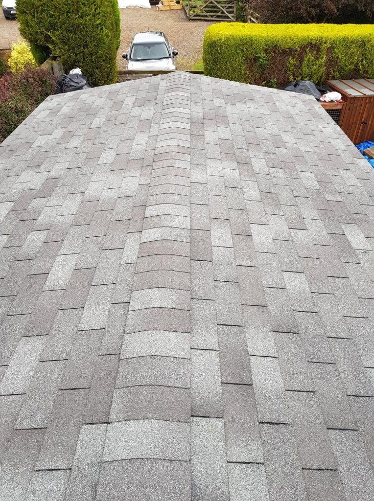 grey felt roof tiles